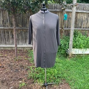 Eileen Fisher Shirt Dress - Slate Gray 1X